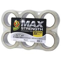 Duck MAX Strength Packaging Tape 1.88 in x 54.6yd 6PK