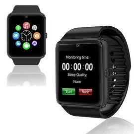 Indigi® New Black GT8 Universal SmartWatch & Phone - Bluetooth Sync + Built-in Camera + Pedometer + SIM Slot + (3G Unlocked)