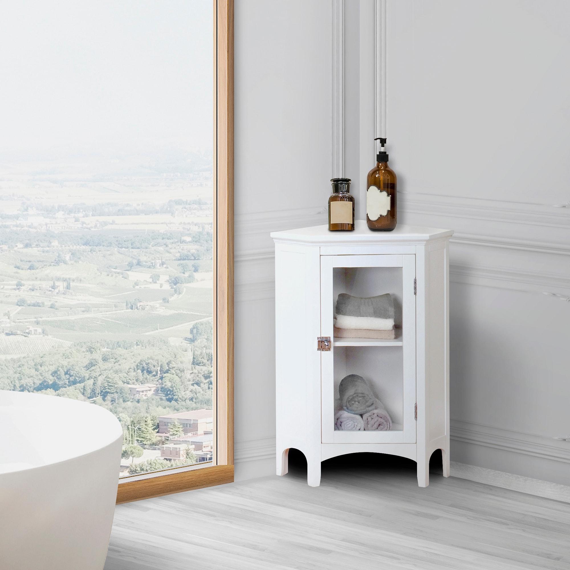 Madison White Corner Floor Cabinet On Sale Overstock 3164645