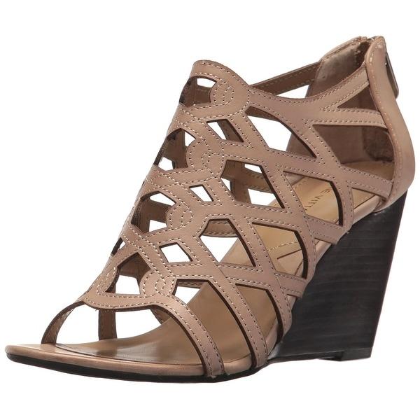 Adrienne Vittadini Footwear Women's Alby Wedge Sandal