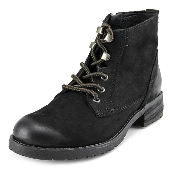 Steve Madden Gobbin Women Round Toe Leather Black Boot