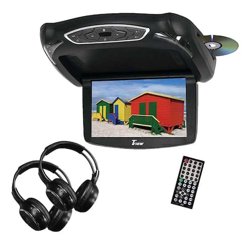 Tview t133dvfd tview 13.3 widescreen flip down monitor dvd player 3 skins