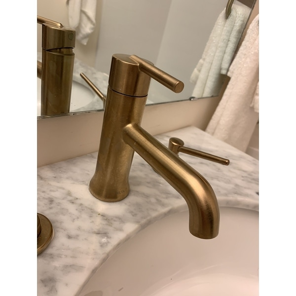 Shop Delta Trinsic Single Handle Bathroom Faucet 559lf Czmpu