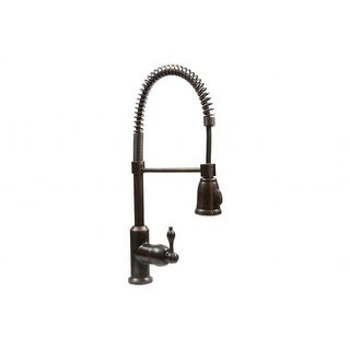 Premier Copper Products K-SPD02ORB Spring Pull Down Kitchen Faucet in Oil Rubbed Bronze