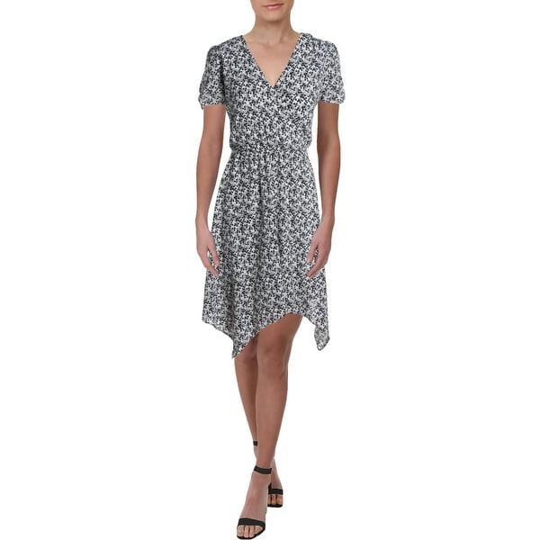 Aqua Womens Casual Dress Printed V Neck - Ivory/Black. Opens flyout.