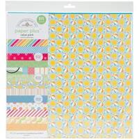 """Doodlebug Paper Plus Value Pack 12""""X12"""" 8/Pkg-Summer"""