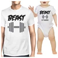 Beast In Training Dad and Baby Matching Outfits Gifts For Husband