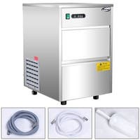 Costway Automatic Ice Maker Stainless Steel 58lbs/24h Freestanding Commercial Home Use - as pic