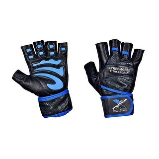 Weight Lifting Gym Training Fitness Gloves Workout Exercise Gloves WG103 - blue/blk