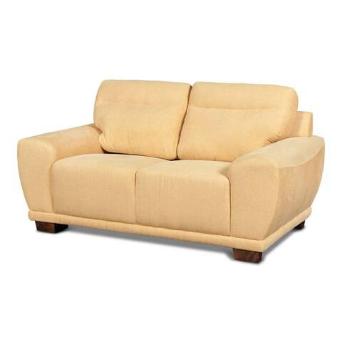 Bolero Modern 66-inch Polyester Loveseat, Sun Yellow