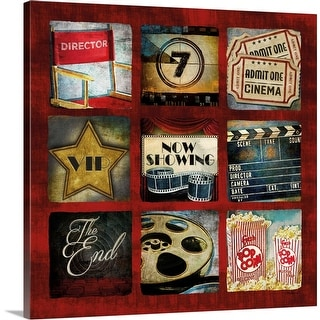 """""""Movie Collage"""" Canvas Wall Art"""