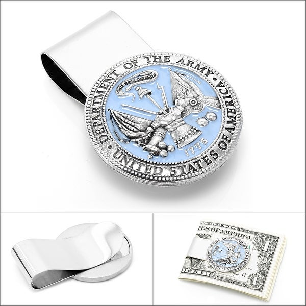 Pewter U.S. Army Money Clip