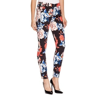 7 For All Mankind Womens Casual Pants Floral Print Mid Rise