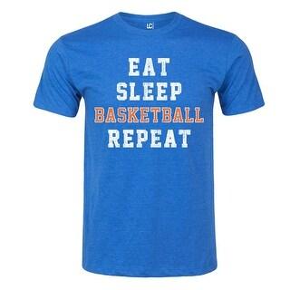 Eat Sleep Basketball Repeat-Adult Short Sleeve Tee
