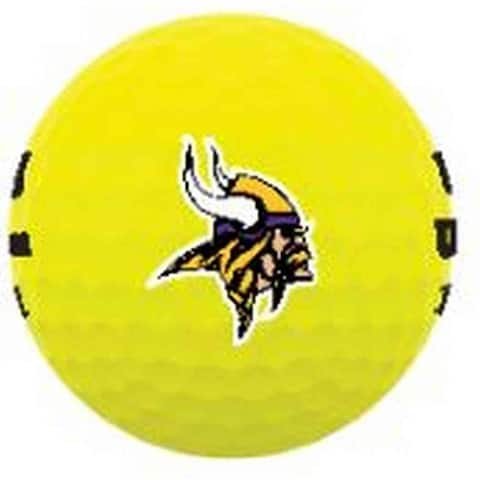 Wilson Duo Soft NFL Football Golf Balls (12 Balls) Minnesota Vikings Yellow - Standard