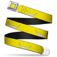 Korosensei Face Close Up Full Color Yellow Korosensei Face Close Up Yellow Seatbelt Belt