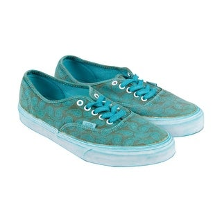Vans Authentic + Mens Green Canvas Lace Up Lace Up Sneakers Shoes