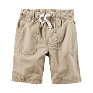 Carter's Little Boys' Pull-On Poplin Shorts, 5-Toddler