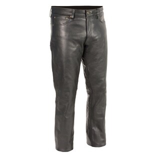 Men's Classic 5 Pocket Leather Pants (Option: Xxxl)
