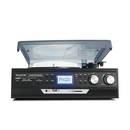 Boytone BT-17DJB 3-Speed Stereo Turntable 33/45/78 RPM with AM-FM Radio