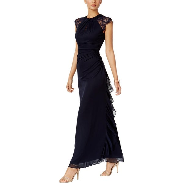 Betsy & Adam Womens Evening Dress A-Line Special Occasion