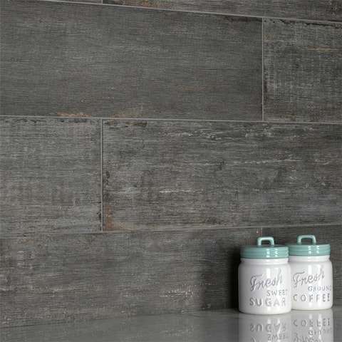 SomerTile 8.25x23.5-inch Retro Cendra Porcelain Floor and Wall Tile