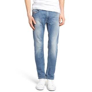 Diesel Men's Slim-Skinny Fit Thavar 0842H Stretch Jeans Light Blue - 36