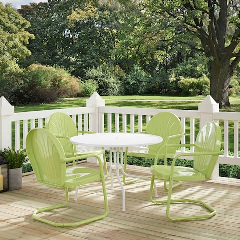 Howard Bay Key Lime 5-piece Metal Outdoor Dining Set by Havenside Home