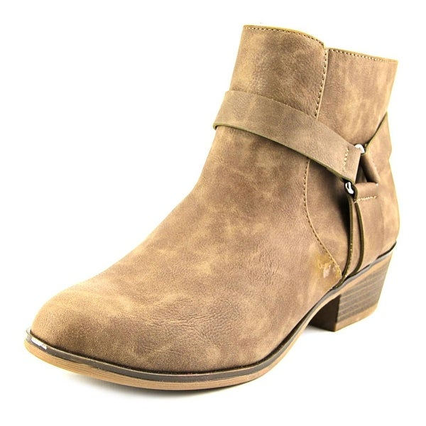 Kenneth Cole Reaction Dolla Bill Women Round Toe Leather Brown Ankle Boot