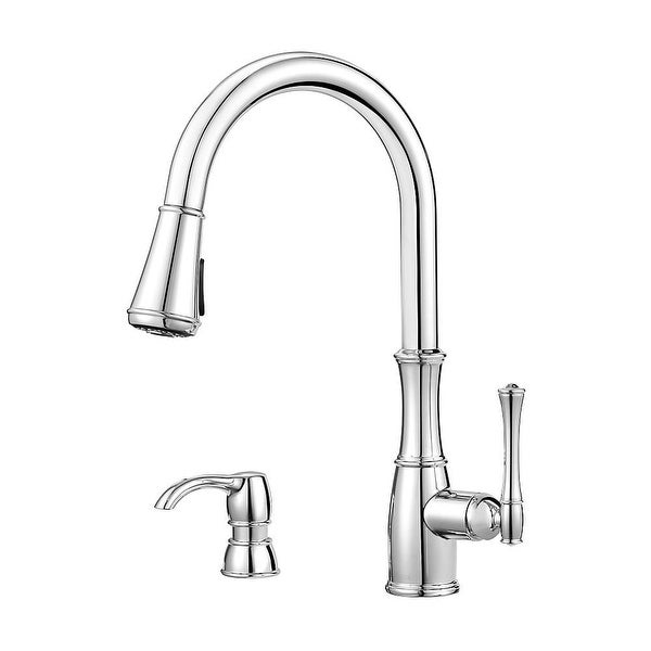 Shop Pfister Gt529 Wh1 Wheaton 1 8 Gpm Pull Down Kitchen Faucet With