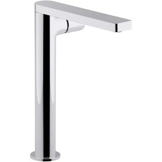 Kohler K-73054-7 Composed 1.2 GPM Single Hole Vessel Bathroom Faucet with Knob Handle and Drain Assembly (Option: Steel Finish)
