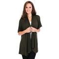 Simply Ravishing Women's Basic Short Sleeve Open Cardigan (Size: Small-5X) - Thumbnail 8
