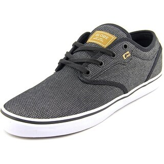 Globe Motley Men Round Toe Canvas Black Skate Shoe