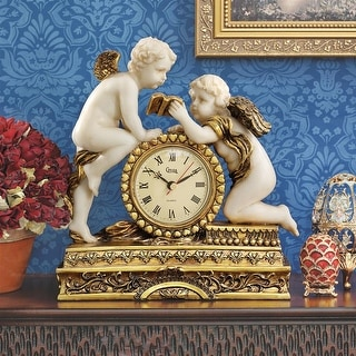 Design Toscano Chateau Carbonne Cherub Mantel Clock