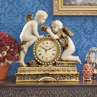 Design Toscano Chateau Carbonne Cherub Mantel Clock