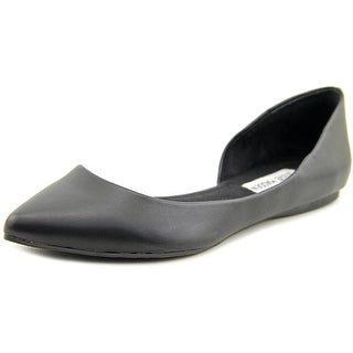 Steve Madden Lecrew Women Pointed Toe Synthetic Black Flats