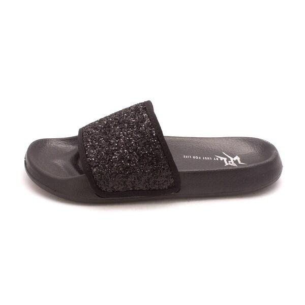 Lust for Life Womens Shimmer Open Toe Casual Slide Sandals