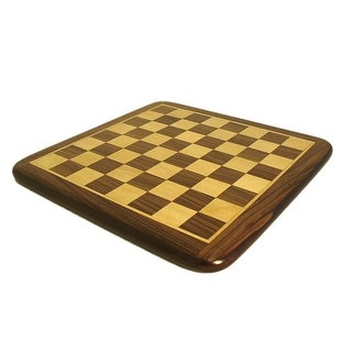 21 Inch Rosewood & Maple Thick Veneer Chess Board - brown