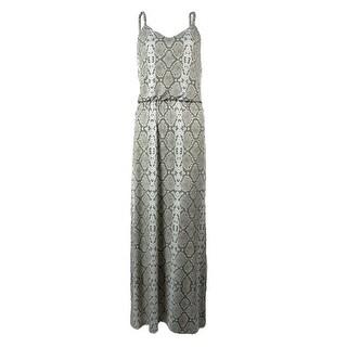 Vince Camuto Women's Snake Skin Print Maxi Dress - 10