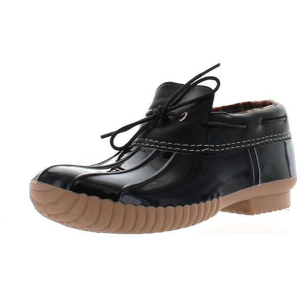 Cape Robbin Muriel-2 Women's Duck Shoe Low Ankle With Tie Black