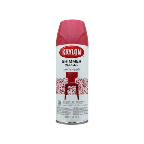 3931 krylon shimmer mtlc spray paint 11 5oz candy apple