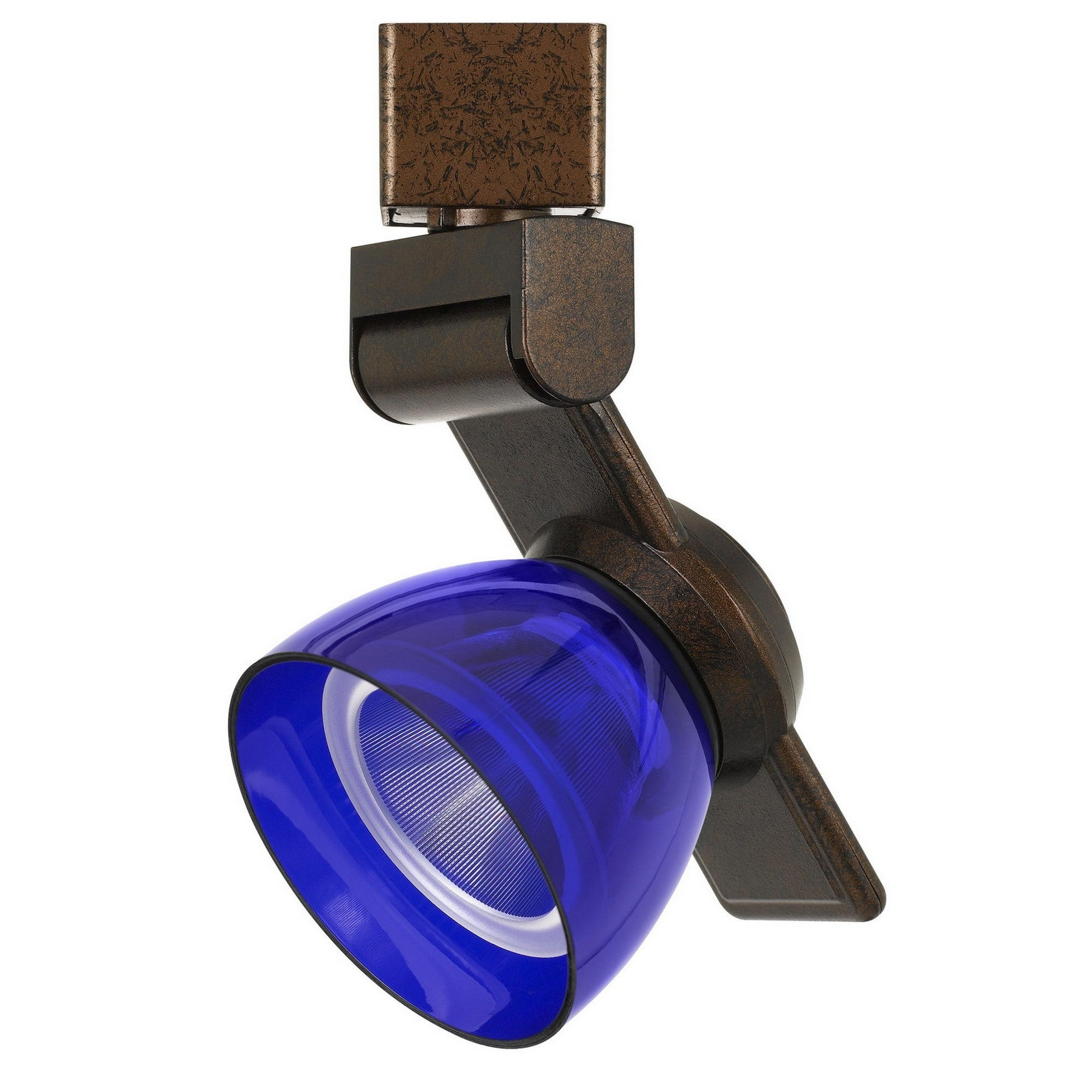 Shop 12w Integrated Led Track Fixture With Polycarbonate Head Bronze And Blue Overstock 31673247