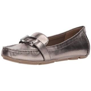 AK Anne Klein Sport Women's Petra Leather Loafer Flat - 5