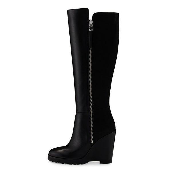 Michael Kors Womens Clara Leather Closed Toe Knee High Fashion Boots