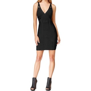 Guess Womens Chevron Mirage Bodycon Dress Bandage V-Neck