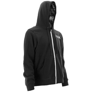 Huk Men's Trophy Performance Black Large Full Zip Hoodie