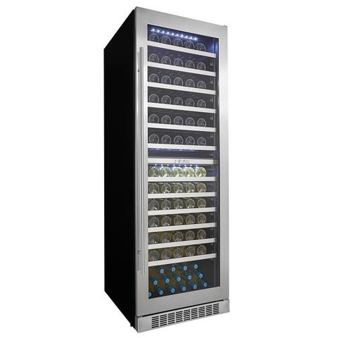 "Danby DWC140D1 24"" Wide 129 Bottle Capacity Built-In Wine Cooler with Dual Temperature Zones and LED Showcase Lighting from the"