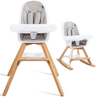 Link to Costway 3-in-1 Convertible Wooden Baby High Chair w/ Tray Adjustable Similar Items in High Chairs & Booster Seats