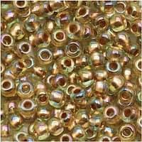 Toho Round Seed Beads 6/0 998 'Gold Lined Rainbow Light Jonquil' 8g