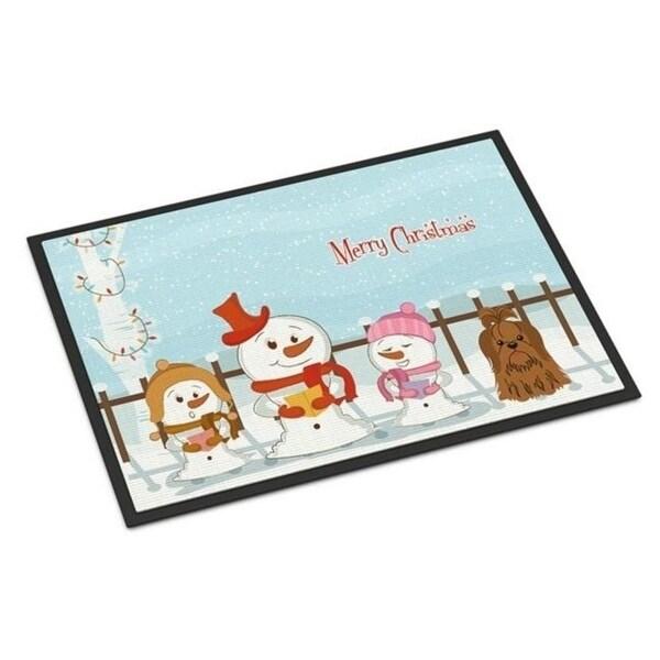 Carolines Treasures BB2417MAT Merry Christmas Carolers Shih Tzu Chocolate Indoor or Outdoor Mat 18 x 0.25 x 27 in.